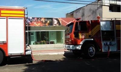 Incêndio na rua General Osório em Chapecó