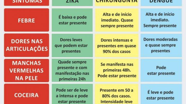 Dados atualizados: dengue / zika vírus / febre chikungunya