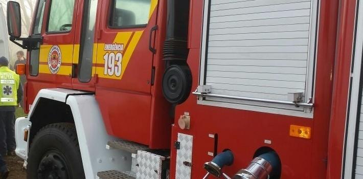 Homem sofre queimaduras graves em incêndio na residência