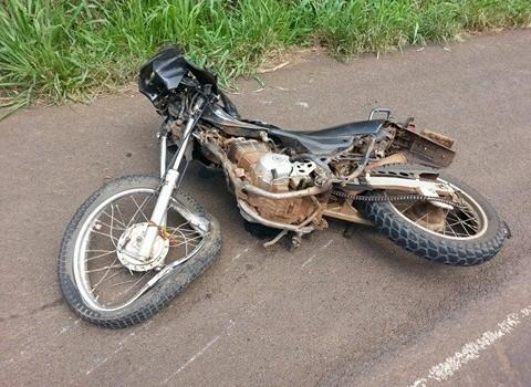 Motociclista morre em colisão frontal na BR-282