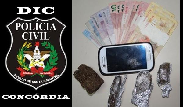 Polícia Civil prende homem por tráfico de drogas e apreende maconha no Oeste de SC