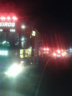 Colisão frontal deixa três feridos em Palmitos