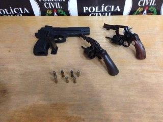 Polícia Civil prende homem com arma e munição na linha Serne