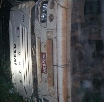 Tombamento de caminhão deixa uma pessoa ferida na BR-158