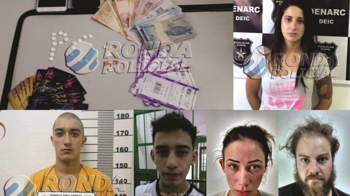 """Operação """"Encomenda 282"""" cumpre 14 mandados  e prende 5 pessoas por tráfico de drogas"""