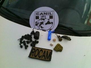 ROCAM e Canil encontram drogas e prende vendedor e usuário no São Pedro