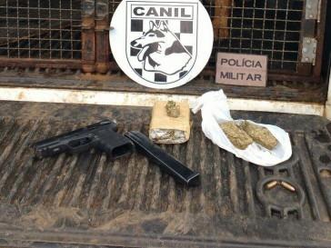 Homem é preso com arma de uso restrito e drogas no Bom Pastor