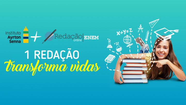Às vésperas do ENEM, Instituto Ayrton Senna e plataforma educacional Redação Online anunciam parceria