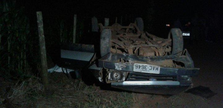 Homem perde a vida em capotamento no distrito de Marechal Bormann