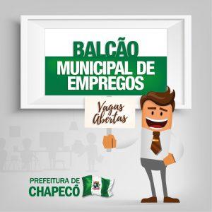 Vagas no Balcão Municipal de Empregos