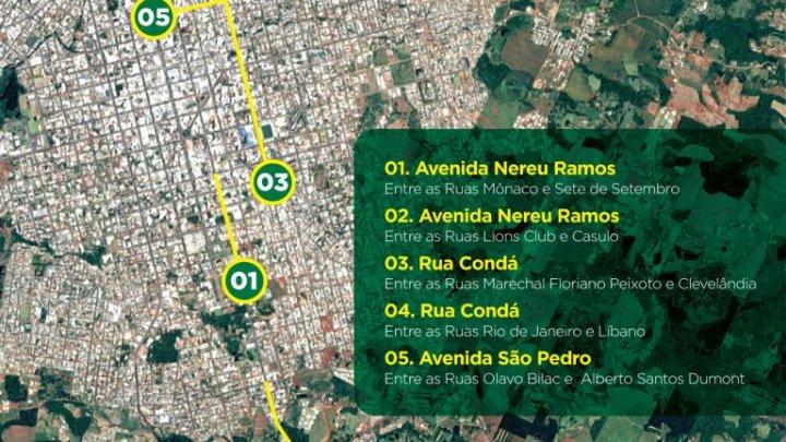 Alterações no trânsito de Chapecó em função das obras do recapeamento