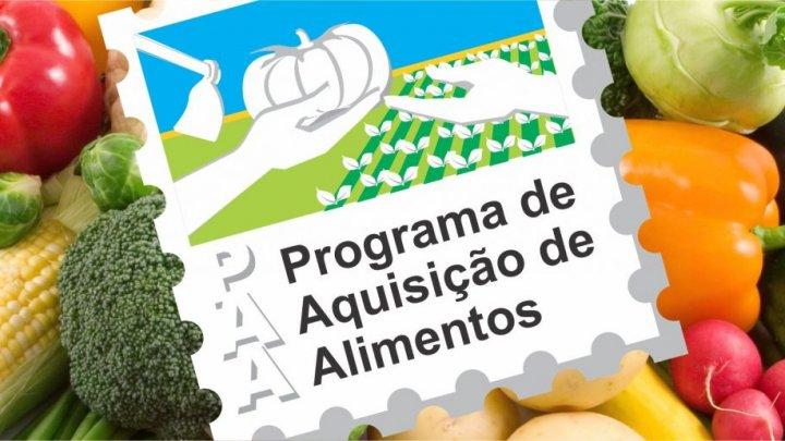 Programa de Aquisição de Alimentos com inscrições abertas