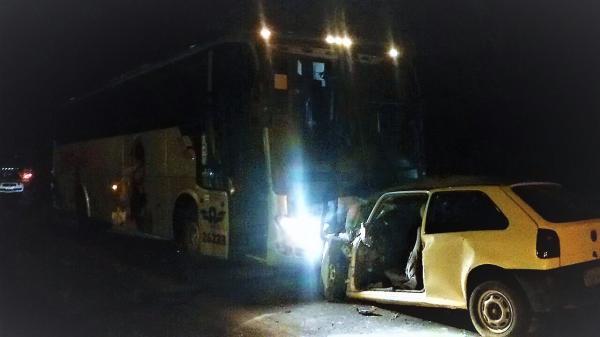 Homem morre em acidente entre carro e ônibus na rodovia SC-283, em Chapecó