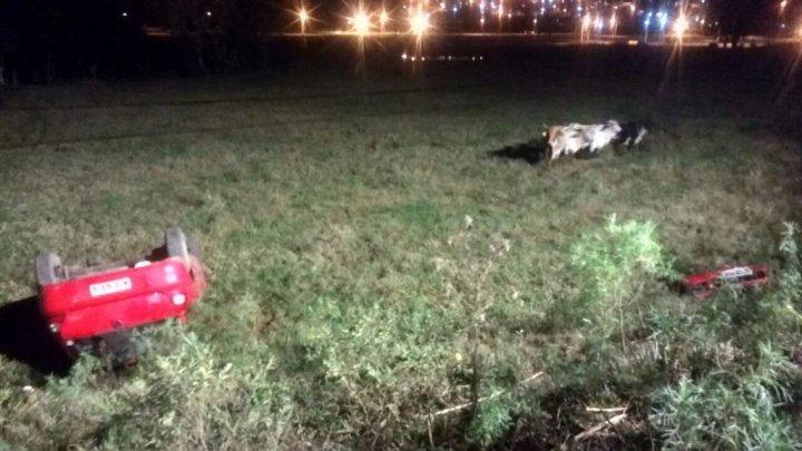 CHAPECÓ – Tombamento de veículo deixa uma pessoa morta, outras duas feridas graves e uma ferida leve
