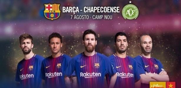 Barcelona anuncia horário de partida contra a Chapecoense