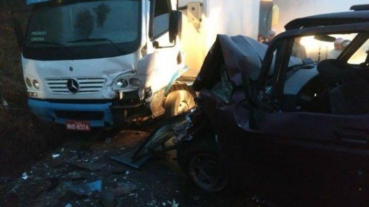 Acidente entre Arvoredo e Chapecó envolve caminhonete e caminhão na SC-283