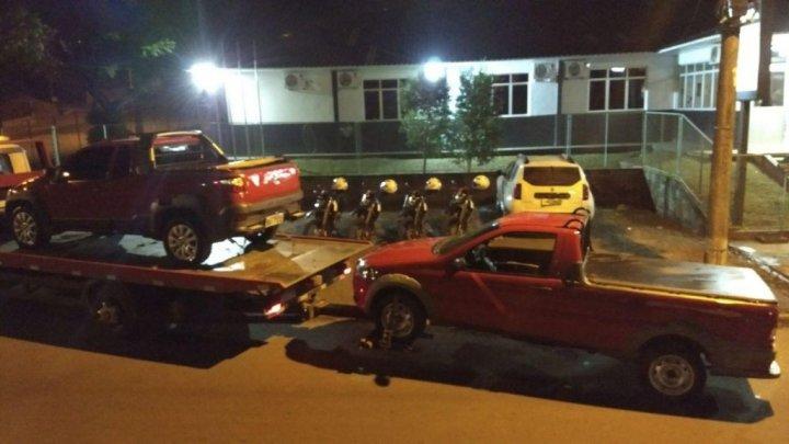Chapecó – Policia militar recupera três veículos roubados no Paraná