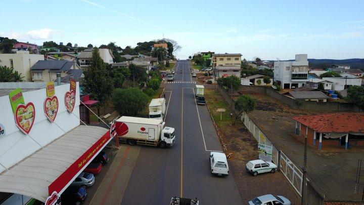 Bairro Efapi em obras: 30 trechos estão sendo asfaltados
