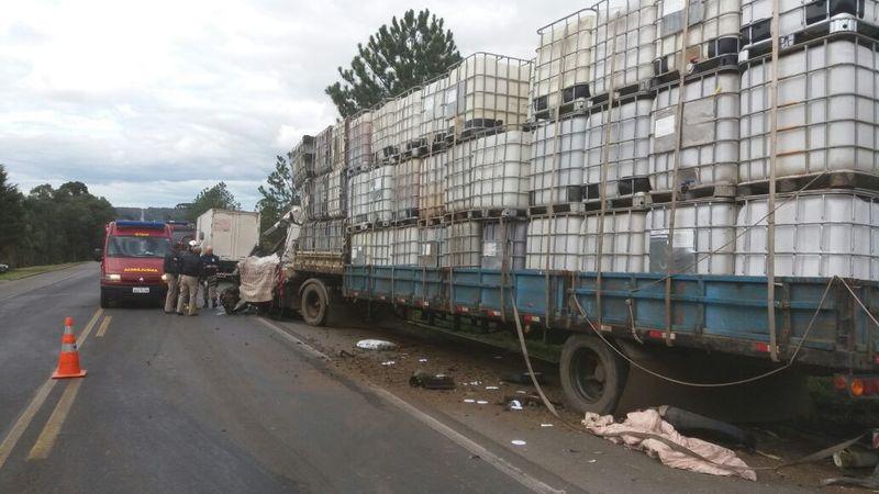 Colisão violenta envolvendo caminhão de Concórdia deixa uma vítima fatal no PR