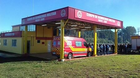 Chapecó – Reinaugurado o posto do Corpo de Bombeiros na Efapi