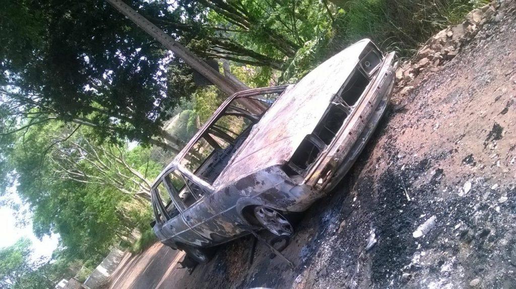 CHAPECÓ – Carro incendiado