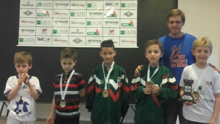 Xadrez chapecoense é terceiro colocado no Circuito Oeste Catarinense