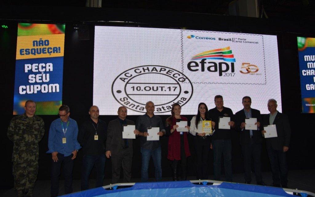 CHAPECÓ – Lançado o selo Alusivo aos 50 anos da Efapi