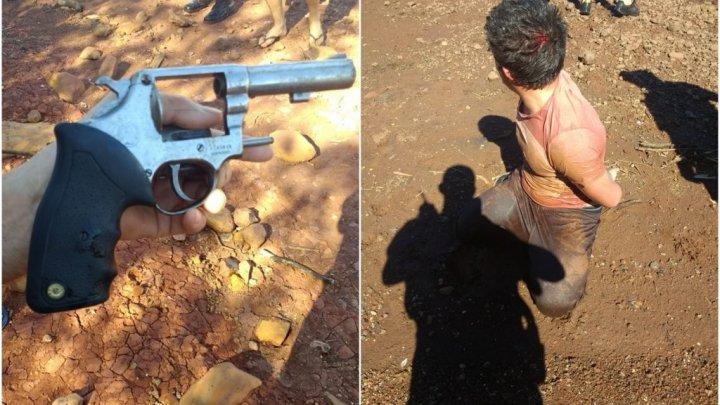 Após assalto, bandidos trocam tiros com a PM e um é preso