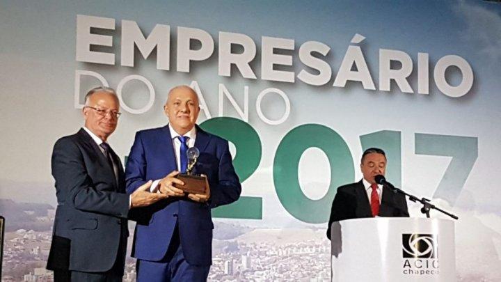 Eleito o Empresário do Ano 2017 em Chapecó