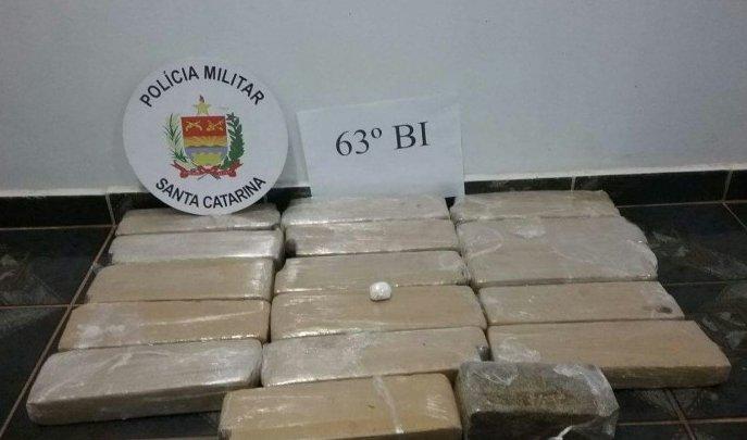 Polícia apreende 19 kg de maconha em Campo Erê