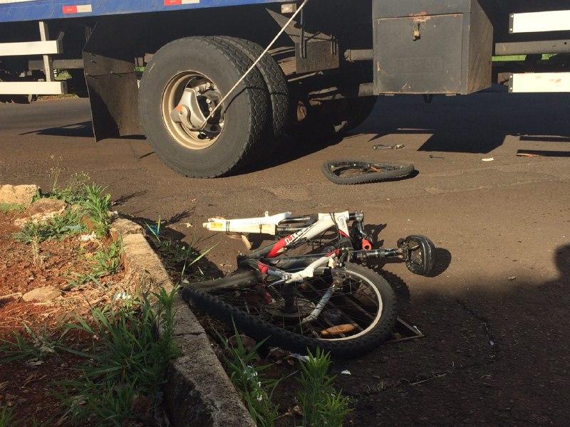 Criança é atropelada por caminhão no bairro Bela Vista em Chapecó