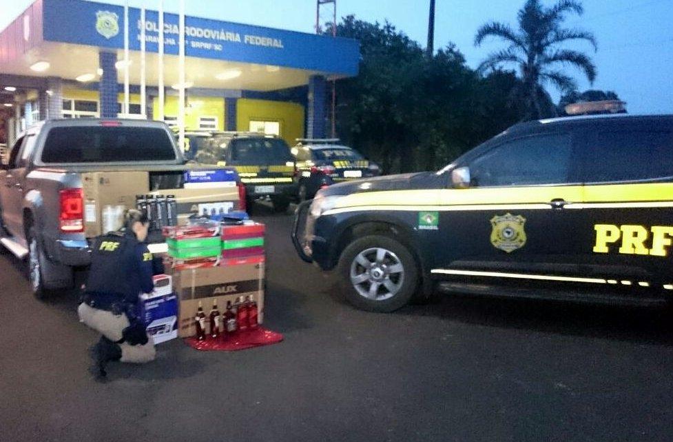 Pela segunda vez: Casal é flagrado transportando mercadorias paraguaias em Maravilha