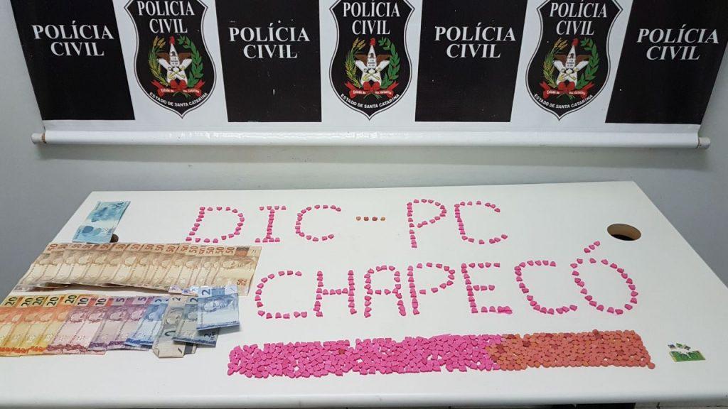 DIC- Realiza apreensão de drogas sintéticas em Chapecó
