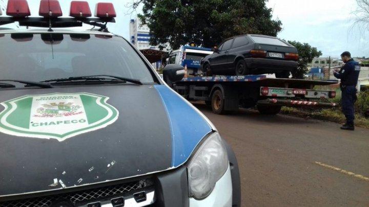 Guarda Municipal localiza veículos furtados em Chapecó