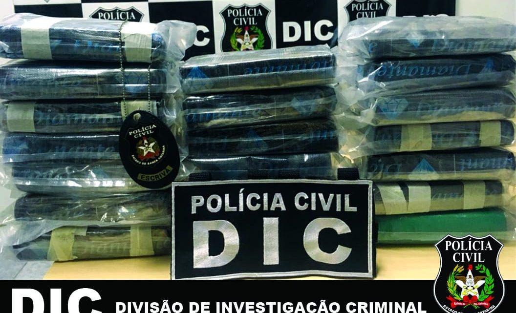DIC encontra mais de 22 quilos de cocaina em veículo