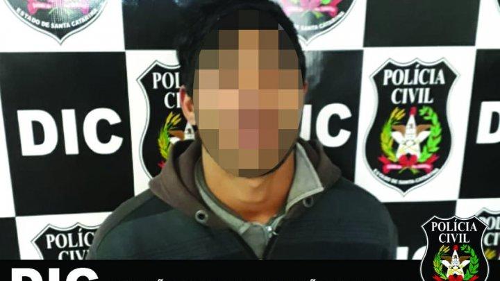 POLÍCIA CIVIL PRENDEU O COAUTOR DE HOMICÍDIO EM CHAPECÓ
