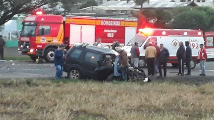 Acidente grave em Ponte Serrada deixa 3 mortos