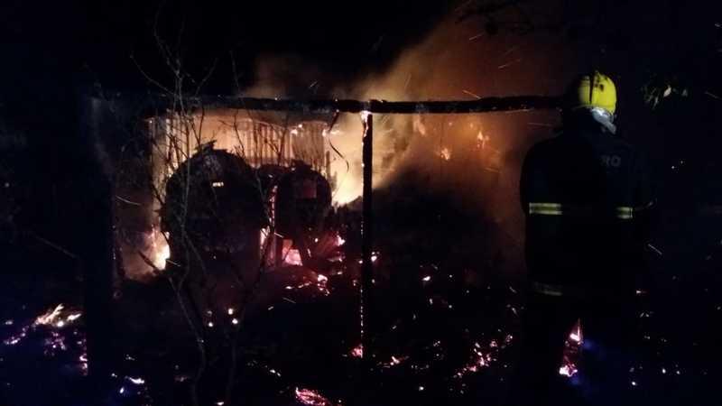 Depósito é destruído por incêndio em São Lourenço do Oeste
