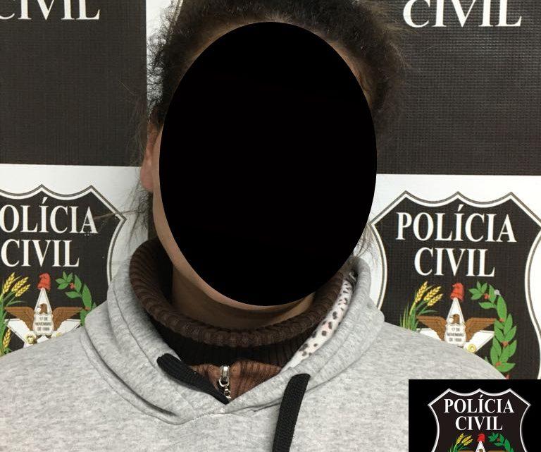 Policia Civil prende em flagrante por tortura, mãe que espancou a filha