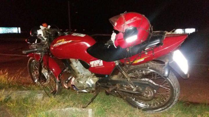 Motociclista sofre acidente na BR-282 em Pinhalzinho