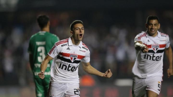 Modelense Shaylon comemora primeiro gol no estádio do São Paulo