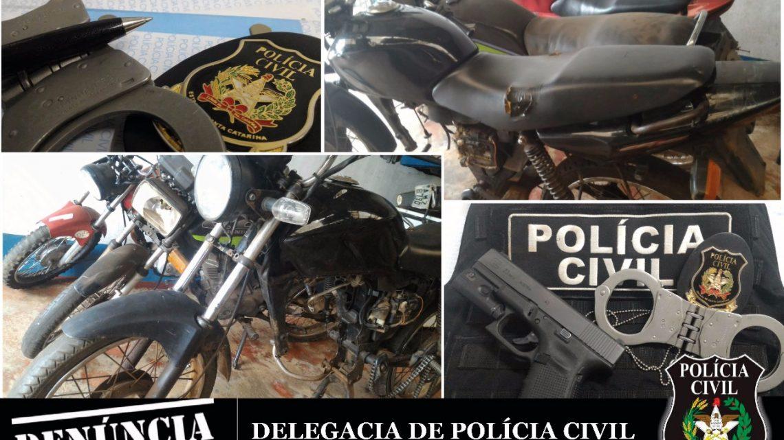 Polícia Civil realiza fiscalização de combate ao furto e receptação de veículos e apreende 3 motocicletas com sinais de adulteração