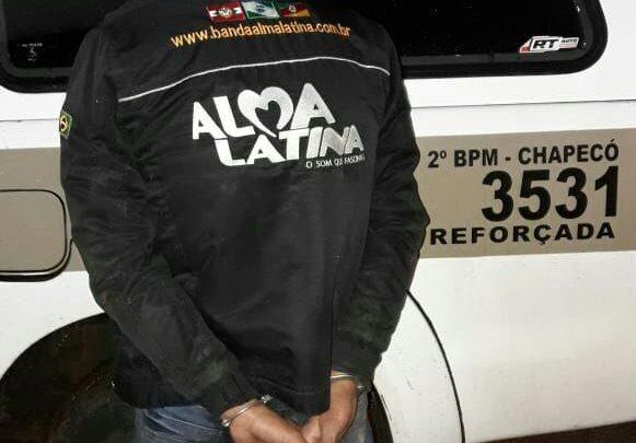 Homem com mandado de prisão em aberto no PR é preso em Chapecó