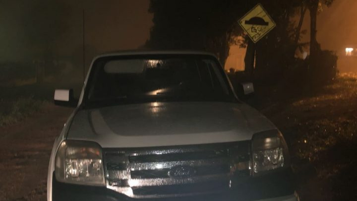 Caminhonete furtada em garagem veículos é encontrada no Bela Vista