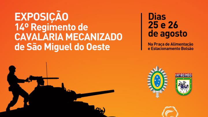 Exército realiza exposição no Shopping Pátio Chapecó
