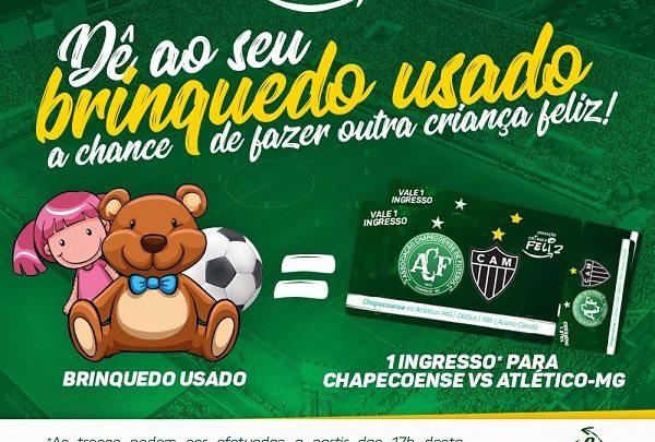 Brinquedos podem ser trocados por ingressos para o jogo contra o Atlético Mineiro