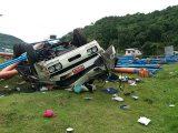 Caminhoneiro morre em grave acidente no Goio-En