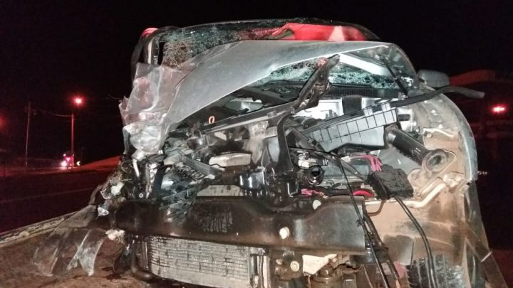 Grave acidente deixa quatro pessoas feridas na BR-282 em Cordilheira Alta