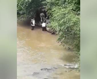 Mulher é resgatada com vida após de pular de ponte em Saudades