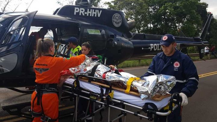 Adolescente fica gravemente ferido após acidente na SC-157